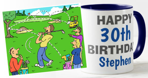 Golf rebounds fluke mug cartoon
