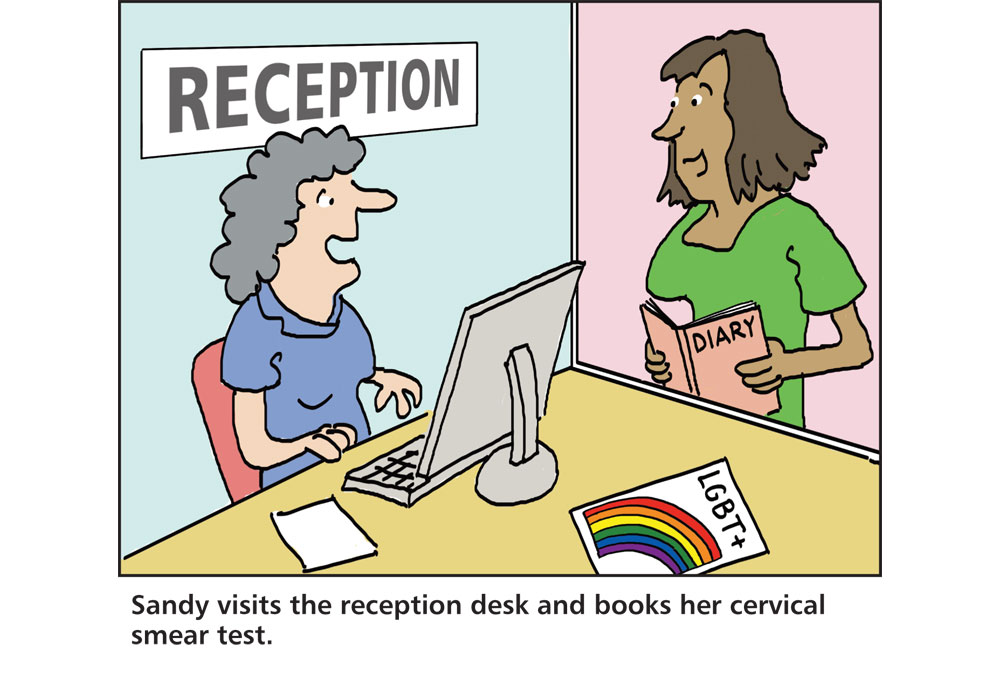 Health Centre Receptionist Helps A Customer Book An Appointment